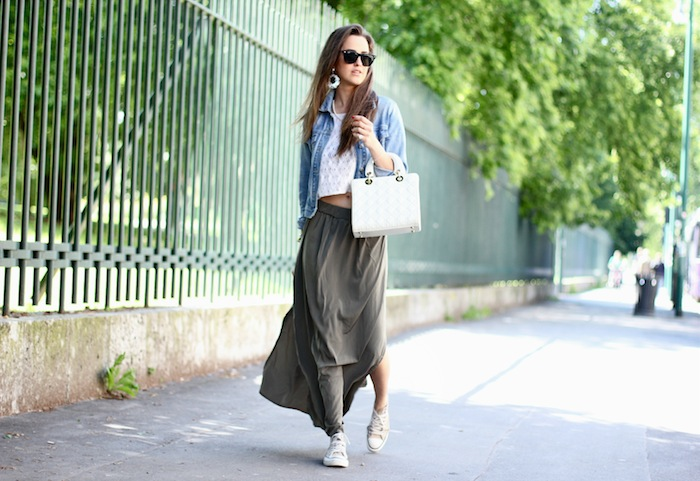 Look of the day | The long skirt